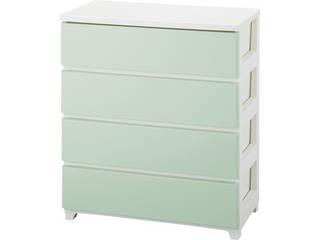 カラースタイルチェストワイド4段 ホワイトグリーン C-STYLE-W4WHGR