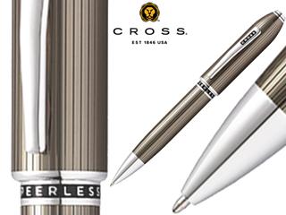 CROSS/クロス ボールペン■ピアレス125【トランスルーセントチタングレー】■トップにスワロフスキー(R)クリスタル