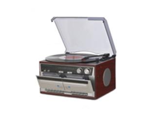 TOHSHOH/とうしょう TT-386W 木目調Wカセットレコードプレーヤー