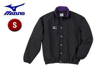 mizuno/ミズノ A60JF962-88 フード収納式 中綿ウォーマーキルトシャツ (ブラック) 【Sサイズ】