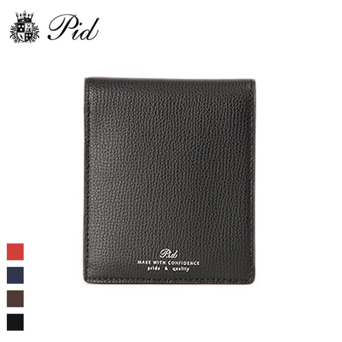 PID/ピー・アイ・ディー PAW1003 イタリアンレザー 純札入れ財布 (ブラック)