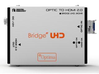 【納期にお時間がかかります】 ADTECHNO/エーディテクノ UHD_M_OHR 超小型軽量4K UHD対応HDMI2.0光延長器 受信機