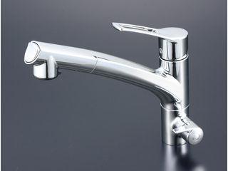 KVK/ケーブイケー 浄水器シングルシャワー付混合栓 KM5061N