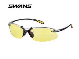 SWANS/スワンズ SA-517-MTSIL Airless-Wave (フレーム:チタンシルバー×マットブラック/レンズ:イエロー(両面マルチ))
