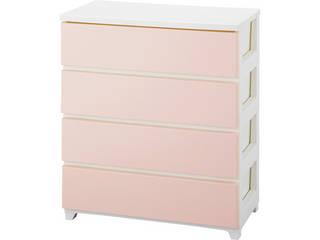 カラースタイルチェストワイド4段 ホワイトピンク C-STYLE-W4WHPK