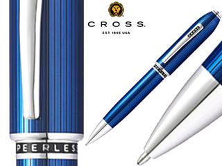 CROSS/クロス ボールペン■ピアレス125【トランスルーセントクォーツブルー】■トップにスワロフスキー(R)クリスタル