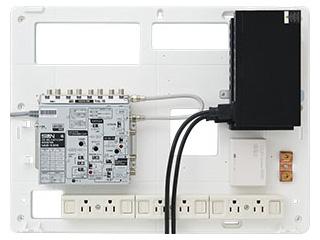 サン電子 COM-K7000H 情報分電盤(ブースタ有り、LANスイッチ2台) 【COM-Hシリーズ】