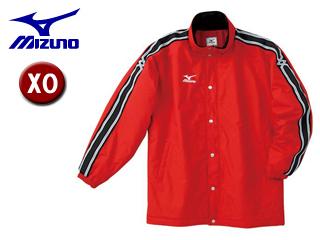 mizuno/ミズノ A60JF961-62 中綿ウォーマーキルトシャツ フード収納式 【XO】 (レッド)