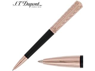 S.T.Dupont エステーデュポン ボールペン ブラックナチュラルラッカー キルト ピンクゴールド  465601