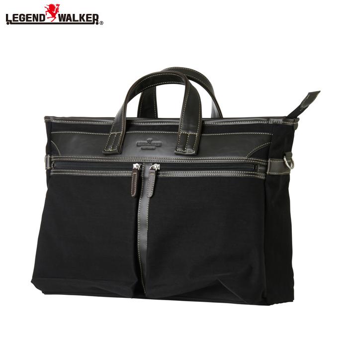 LEGEND WALKER/レジェンドウォーカー 9103-41 フロント2ポケット搭載 日本製 ビジネスバッグ (ブラック)