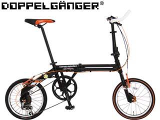 Doppelganger/ドッペルギャンガー 111 ROADFLY ロードフライ 16型折畳み自転車(カーボンブラック×フラッシュオレンジ) メーカー直送品のため【単品購入のみ】【クレジット決済のみ】 【北海道・沖縄・離島不可】【日時指定不可】商品になります。