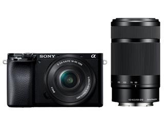 SONY/ソニー ILCE-6100Y-B(ブラック) α6100 ダブルズームレンズキット ミラーレスカメラ 【アルファ】