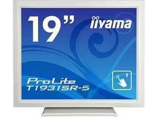 iiyama/飯山 19型タッチパネル液晶ディスプレイ ProLite T1931SR-W5 (抵抗膜方式/USB通信/防塵防滴/ピュアホワイト)