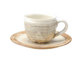 信楽焼 信楽焼 粉引 コーヒー碗皿5客揃   G5‐2615s