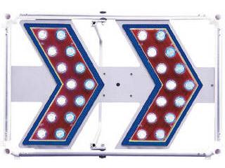 Sendaimeiban/仙台銘板 軽量型矢印板 LIGHT H400×W600mm 白/青LED 3093105