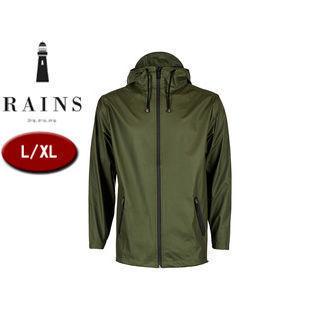 RAINS/レインズ ブレーカー レインジャケット 止水ファスナー 【L/XL】 (グリーン) 防水 撥水 レインコート 雨 雪 男女兼用 雨具 合羽