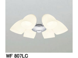 ODELIC WF807LC WF802P1・803P1専用灯具[乳白ケシガラス・6灯]【~8畳】
