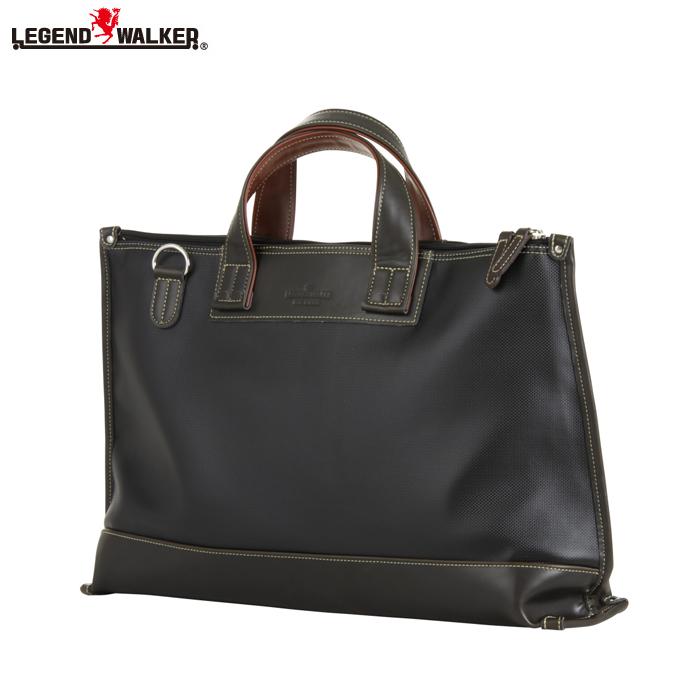 LEGEND WALKER/レジェンドウォーカー 9104-44 背面ポケット搭載 日本製 ビジネスバッグ (ブラック)