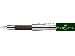 FABER-CASTELL/ファーバーカステル 【E-MOTION/エモーション】ウッド&クローム 梨の木 ダークブラウン 万年筆 FP F 148211