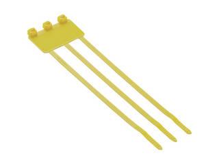 Panduit/パンドウイットコーポレーション 旗型タイプナイロン結束バンド 黄 (500本入) PL3M2S-D4Y