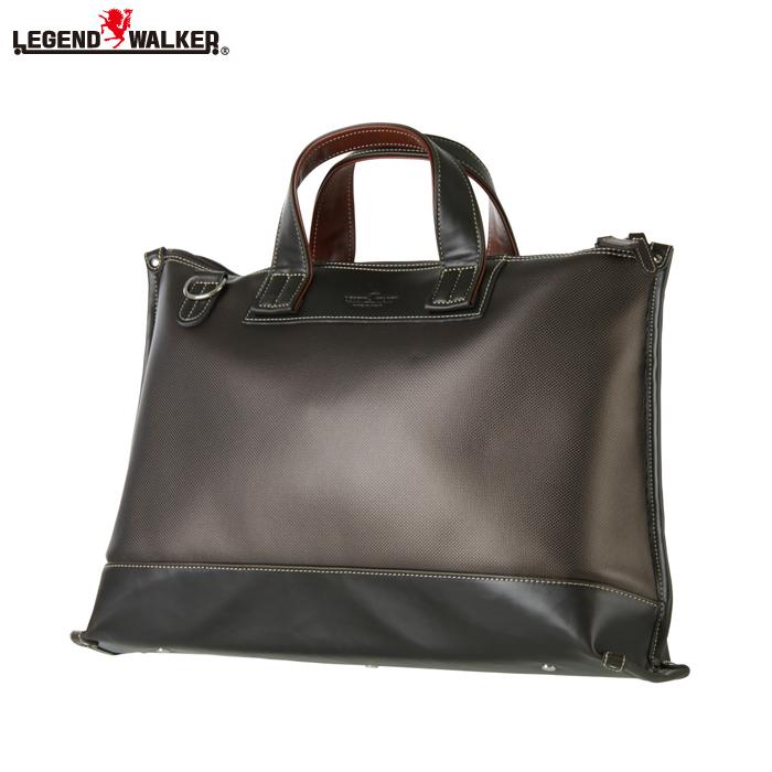 LEGEND WALKER/レジェンドウォーカー 9104-44 背面ポケット搭載 日本製 ビジネスバッグ (チョコ)