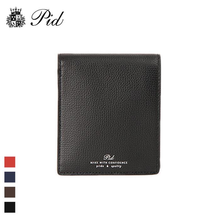 PID/ピー・アイ・ディー PAW1004 イタリアンレザー 二つ折り財布(ブラック)
