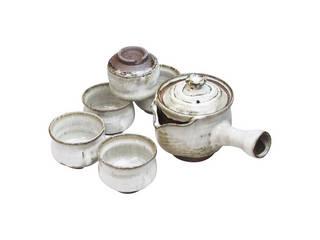萩焼〈清玩作〉 白釉茶器揃