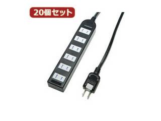 YAZAWA YAZAWA 【20個セット】 ノイズフィルター付AV機器タップ Y02KNS602BKX20