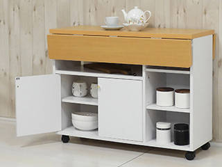新生活にピッタリ!テーブルとしても使える作業台兼キッチン収納ワゴン!