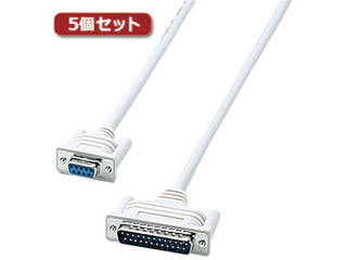 サンワサプライ 【5個セット】 サンワサプライ RS-232Cケーブル KRS-423XF1KX5