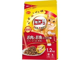 日本ペットフード ミオドライミックス お肉とお魚ミックス味 1.2kg
