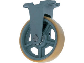 YODONO/ヨドノ 鋳物重荷重用ウレタン車輪固定車付き UHB-k100X50
