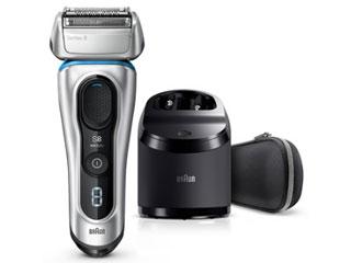 Braun/ブラウン 8390cc メンズ電気シェーバー お風呂剃り対応 洗浄器付モデル(シルバー)