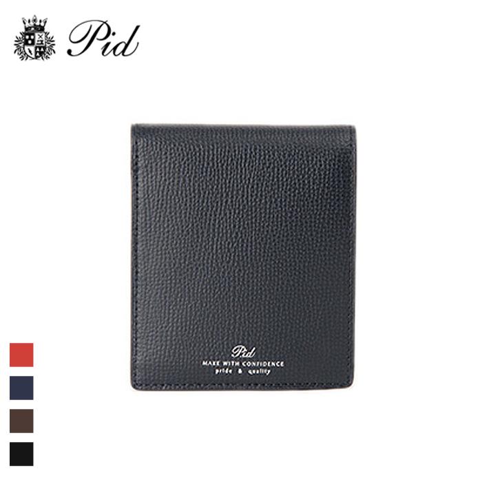 49fe0d45a3d0 PID/ピー・アイ・ディー PAW1004 イタリアンレザー 二つ折り財布(ネイビー)