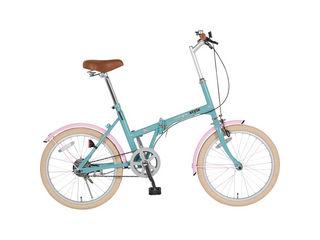 KCD/ケーシーディー 【代引不可商品】シンプルスタイル 20型折りたたみ自転車 ペールブルー SS-H20COL/PBL