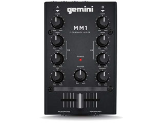 gemini/ジェミナイ MM1 コンパクト ハイコストパフォーマンスDJ ミキサー 【2chミキサー】