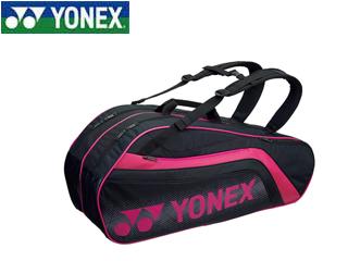 YONEX/ヨネックス BAG1812R-181 ラケットバック6 リュック付き ラケット6本用 (ブラック×ピンク)
