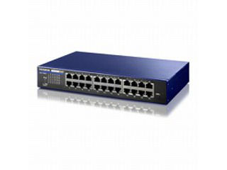I・O DATA/アイ・オー・データ IEEE802.1X認証対応 L2インテリジェントスイッチ 24ポート BSH-G24M ミレニアム群青モデル
