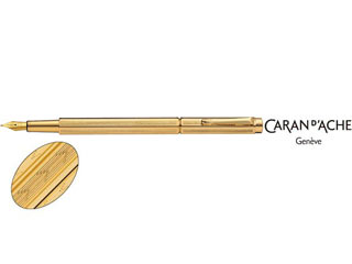 CARAN dACHE/カランダッシュ 【Ecridor/エクリドール】シェブロン ゴールド 万年筆 M 0958-208