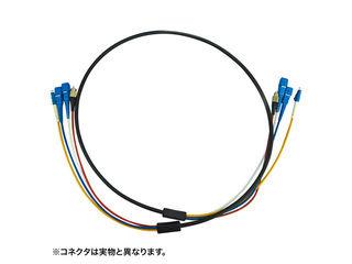 サンワサプライ 防水ロバスト光ファイバケーブル(50m・ブラック) HKB-LCLCWPRB1-50