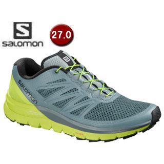 SALOMON/サロモン ■L40241100 SENSE PRO MAX トレイルランニングシューズ メンズ【27.0cm】(Stormy Weather/Acid Lime)