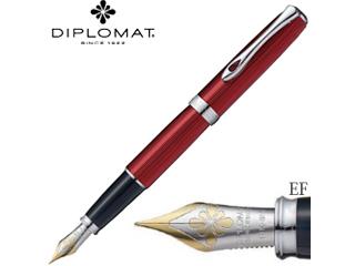 DIPLOMAT/ディプロマット 万年筆■エクセレンスA2【スカイライン レッド】■14Kペン先 【EF/極細】(1958120)