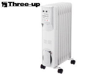 【nightsale】 Three-up/スリーアップ 【在庫品限り】OHT-1556WH マイコン式 オイルヒーター「ひだまり」<リモコン付> (ホワイト)