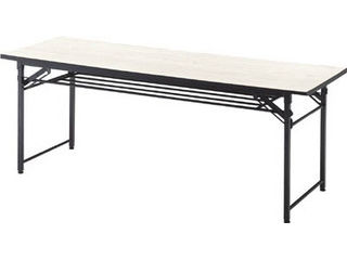 TRUSCO/トラスコ中山 【代引不可】折りたたみ会議テーブル 1800X450XH700 アイボリー TCT-1845IV