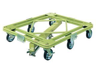 SAKAE/サカエ 【代引不可/キャンセル不可】自在移動回転台車 重量型 センターベース付 RH-3KG