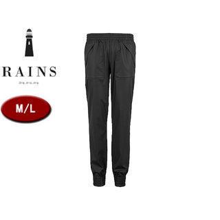 RAINS/レインズ トレイルパンツ レインパンツ 【M/L】 (ブラック) 防水 撥水 レインコート 雨 雪 男女兼用 雨具 合羽