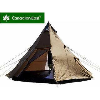 Canadian East/カナディアンイースト CETN2001 カナディアンイースト グリーンレーベル ワンポールテント BIG420【4~6人用】(チョコレート)