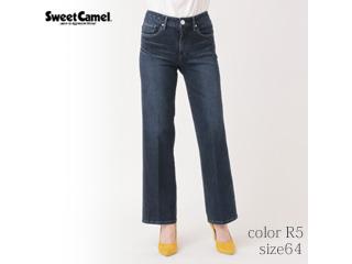 Sweet Camel/スイートキャメル フラワーオイル スレンダーストレートパンツ【R5=濃色USED/size64】■(CA6504)