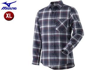 mizuno/ミズノ A2MC8507-14 ブレスサーモ トレイルシャツ メンズ 【XL】 (メディーバルブルー)
