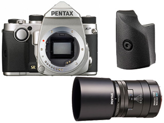 PENTAX/ペンタックス KPボディキット (シルバー)+O-GP1671 グリップM+smc PENTAX‐D FA MACRO 100mmF2.8 WRセット 【kpset】